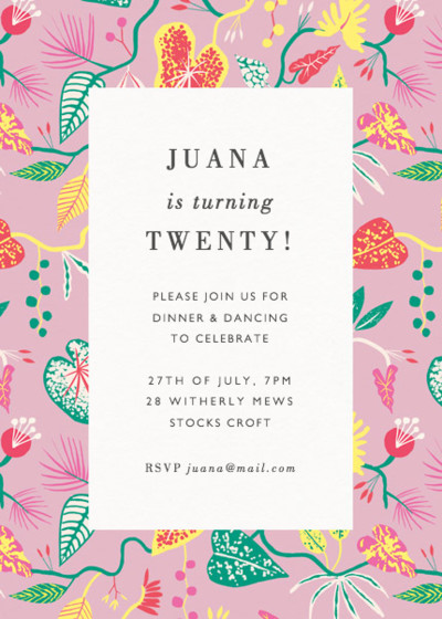 Bright Jungle | Personalised Party Invitation