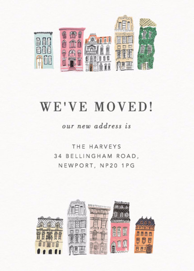 Neighbourhood  | Personalised Moving Announcement