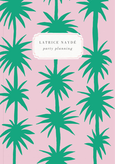 Row of Palms | Personalised Lined Notebook