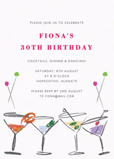 Cocktail Party | Personalised Party Invitation
