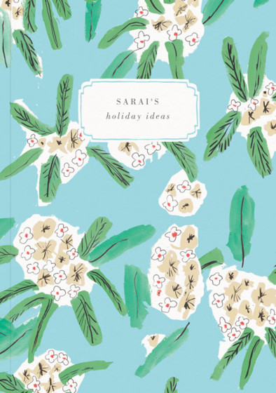 Hawaiian Florals  | Personalised Lined Notebook