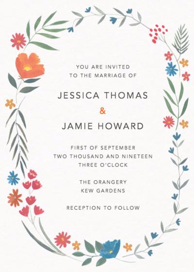 Autumn Meadow   Personalised Wedding Invitation