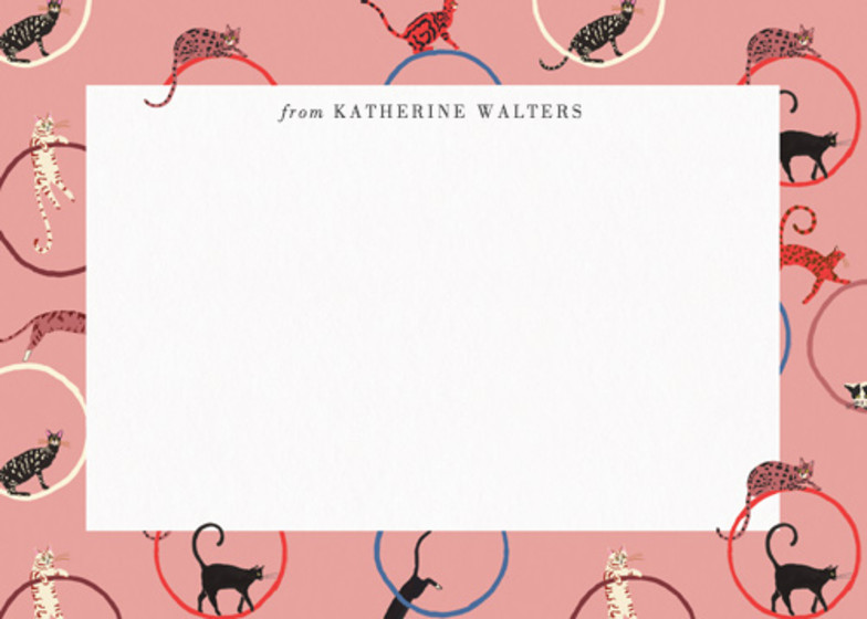 Cats And Hoops  | Personalised Stationery Set