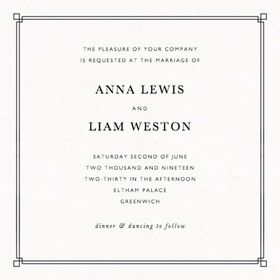 Deco Corners | Personalised Wedding Invitation