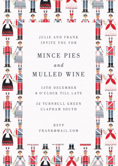 Nutcrackers | Personalised Party Invitation