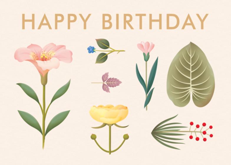 Lush Botany | Personalised Birthday Card