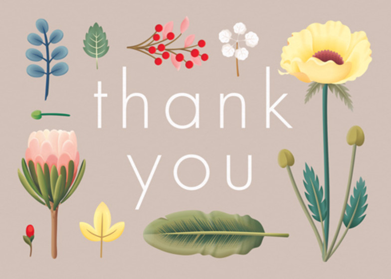 Spring Bloom | Personalised Thank You Card