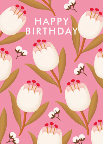Birthday Tulips | Personalised Birthday Card