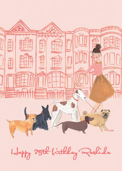 Dog Walker | Personalised Birthday Card