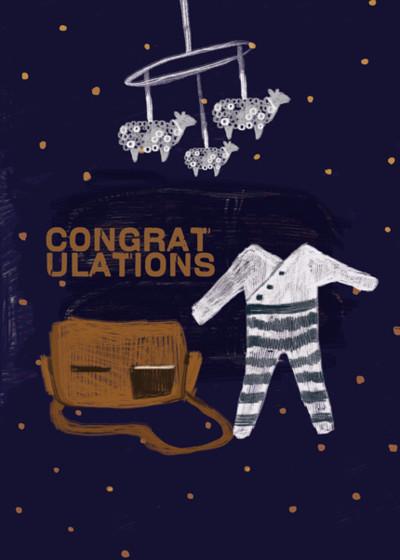 Congrats Baby  | Personalised Congratulations Card