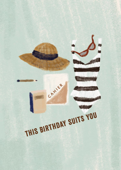 Birthday Suits You | Personalised Birthday Card
