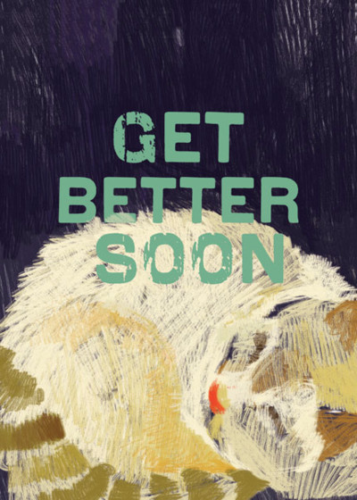 Get Better Cat  | Personalised Greeting Card