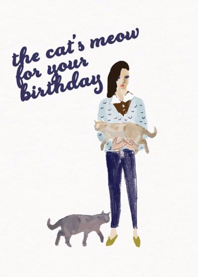 Cat Birthday | Personalised Birthday Card