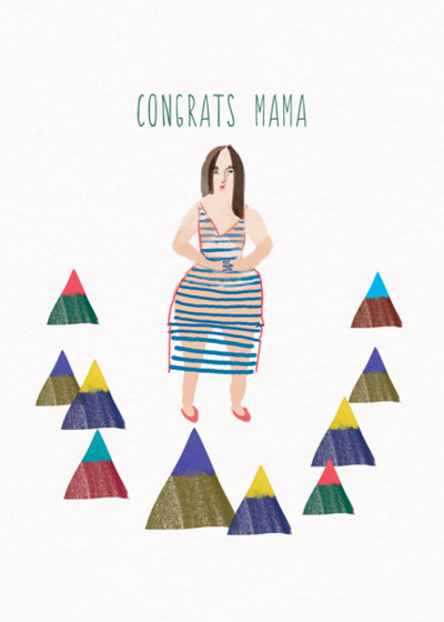 Congrats Mama  | Personalised Congratulations Card
