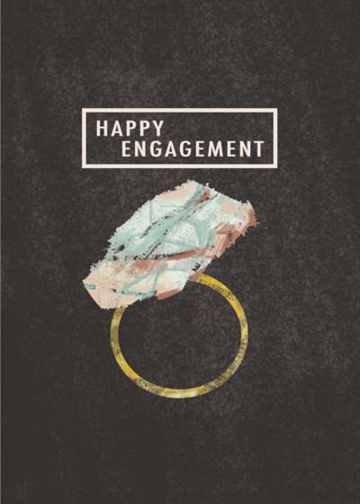 Gem Engagement  | Personalised Congratulations Card