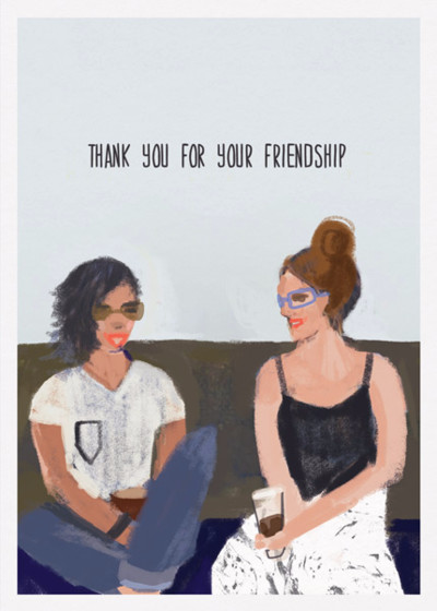 Friendship  | Personalised Thank You Card