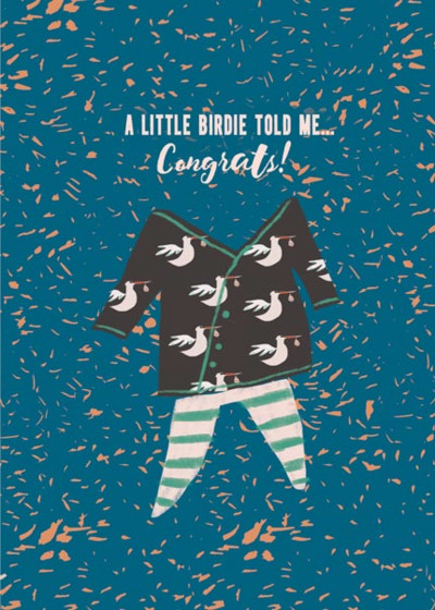 A Little Birdie Told Me  | Personalised Congratulations Card