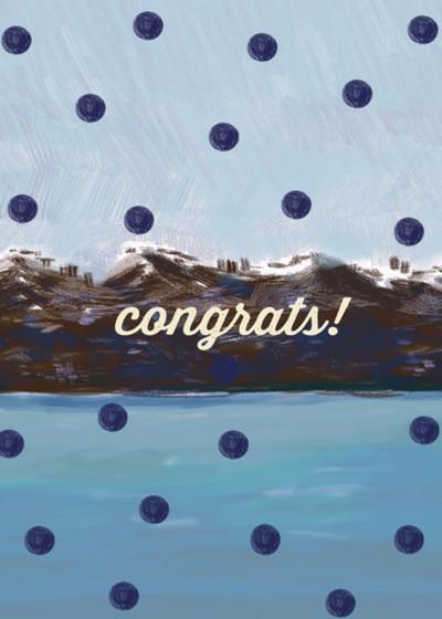 Polka Dot Congrats    Personalised Congratulations Card