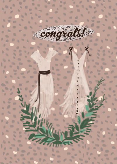 Wedding Dresses | Personalised Congratulations Card
