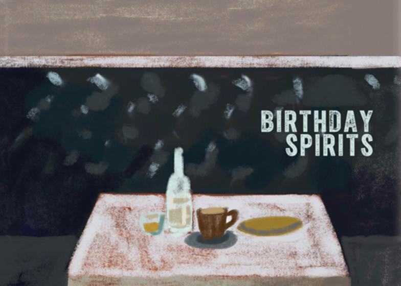 Birthday Spirits | Personalised Birthday Card