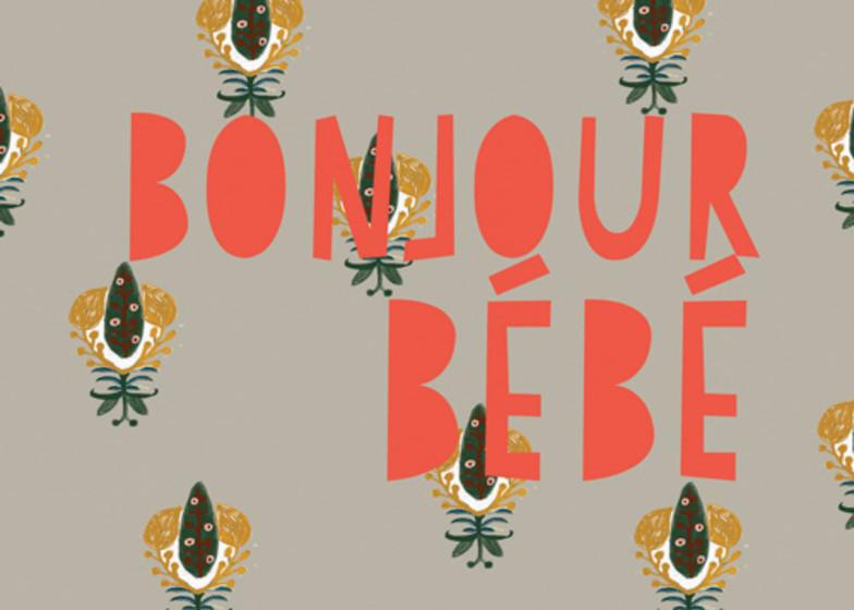 Bonjour Bébé    Personalised Congratulations Card