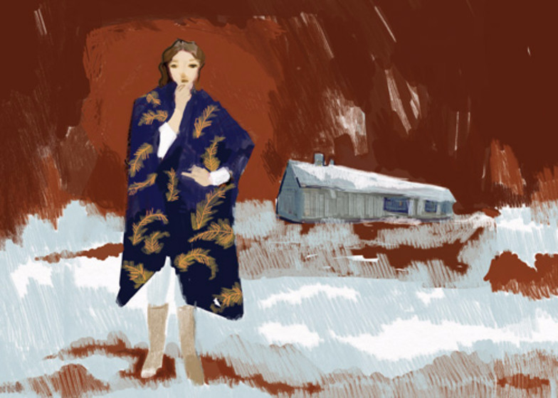 Woman in Coat | Personalised Greeting Card