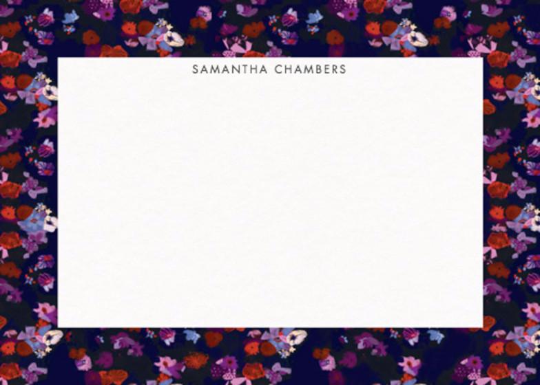 Purple Floral | Personalised Stationery Set