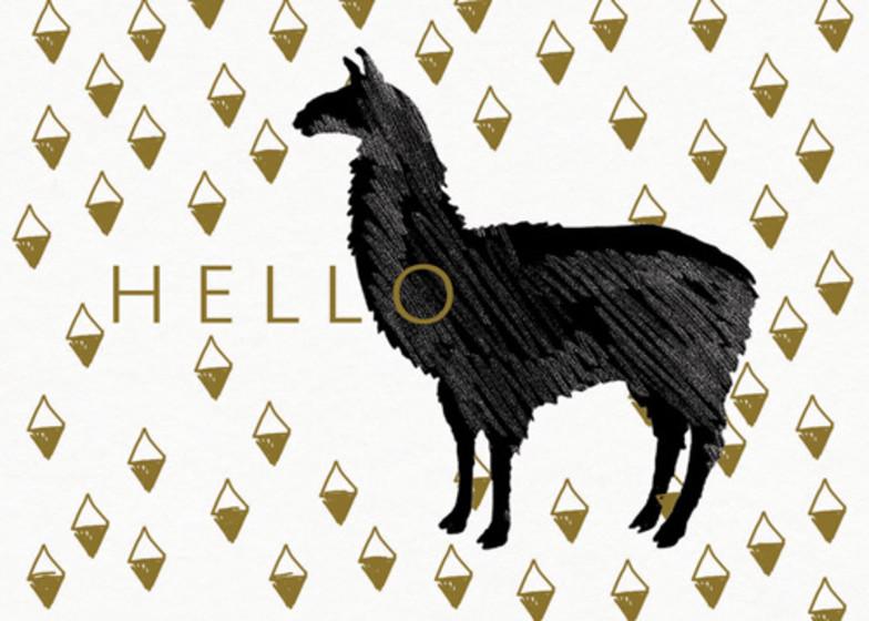 Llama Hello  | Personalised Greeting Card