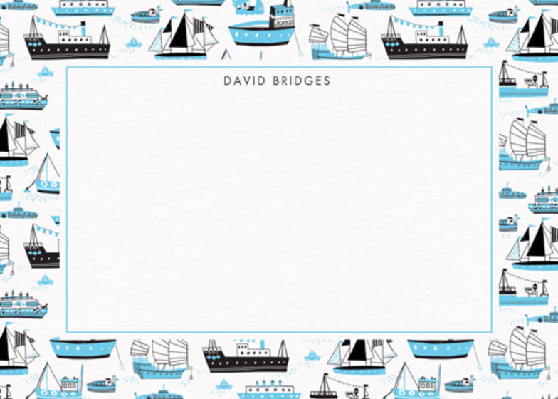 Boats | Personalised Stationery Set