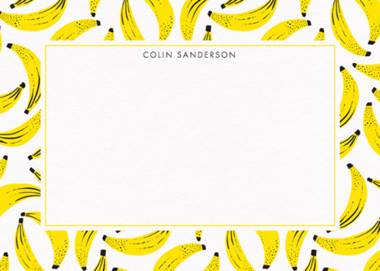 Go Bananas  | Personalised Stationery Set