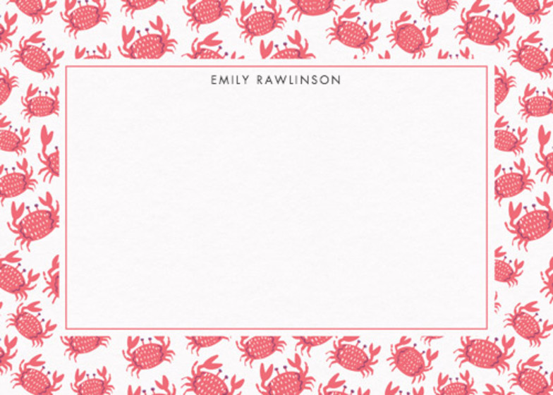 Crabs  | Personalised Stationery Set