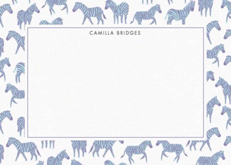Zebras | Personalised Stationery Set
