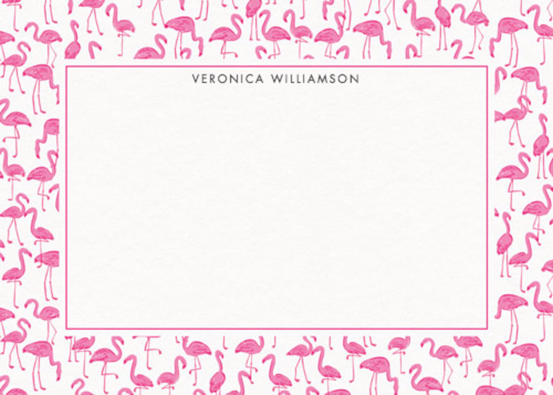 Flamingos  | Personalised Stationery Set