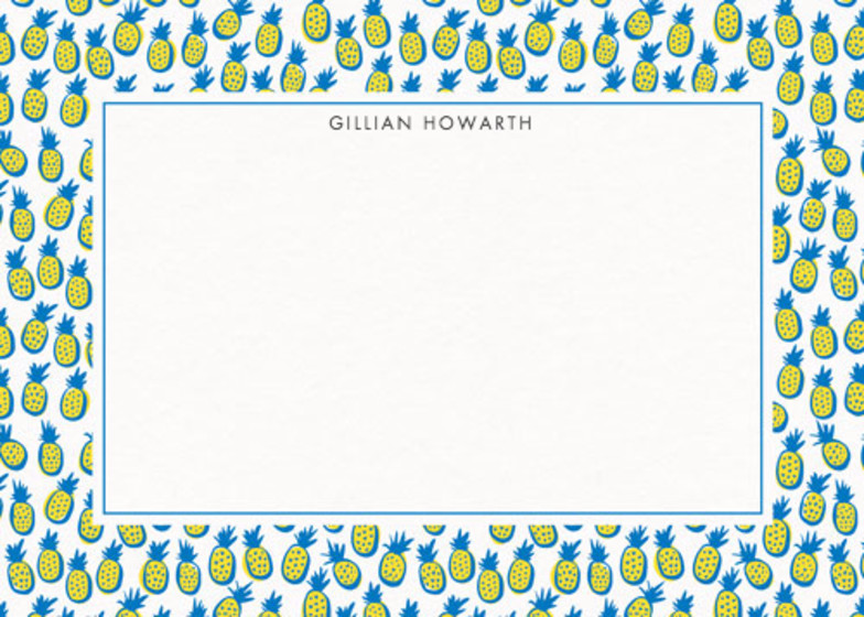 Pineapples | Personalised Stationery Set