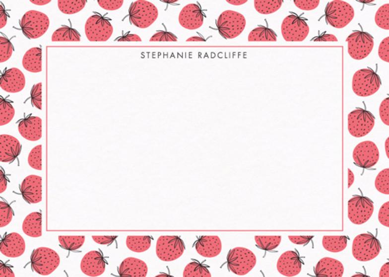 Strawberries | Personalised Stationery Set
