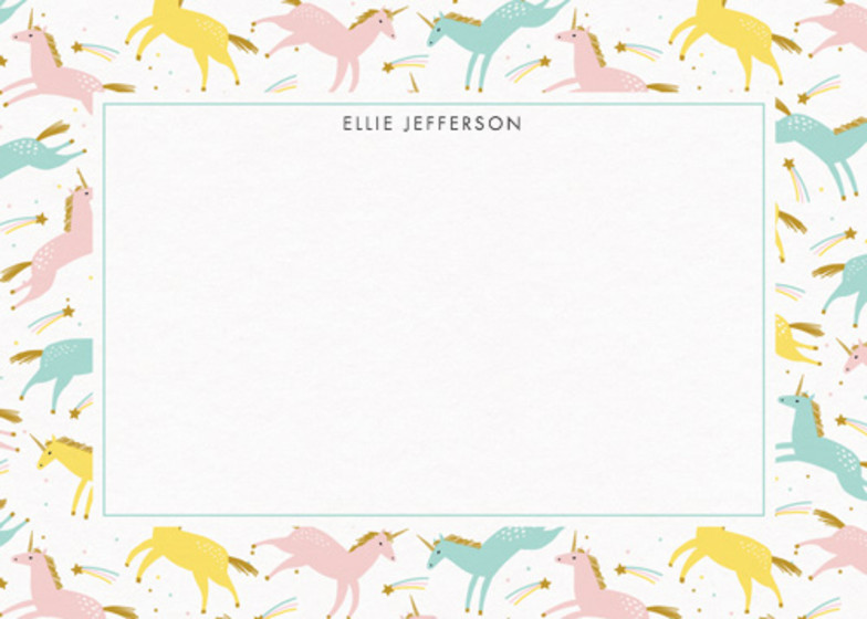 Unicorn Magic | Personalised Stationery Set