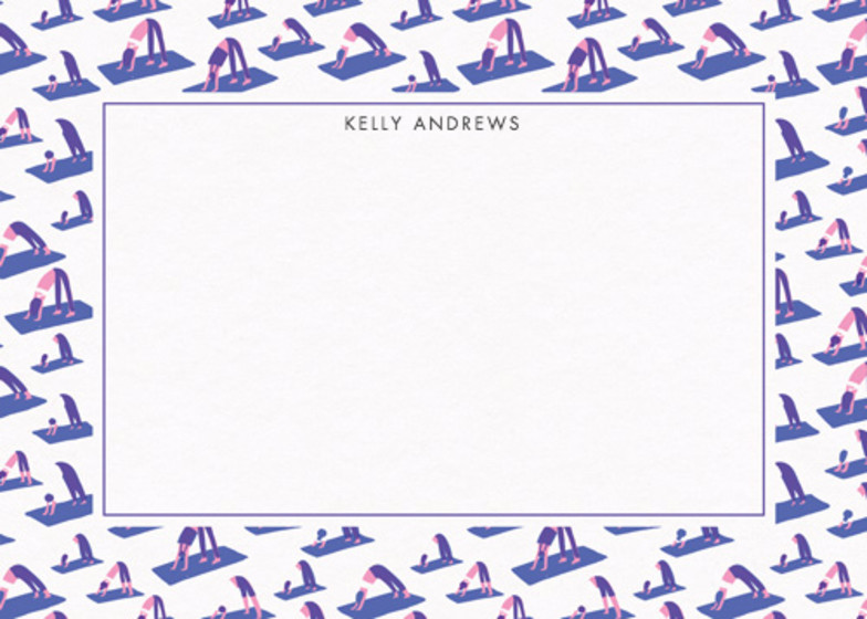 Yoga | Personalised Stationery Set