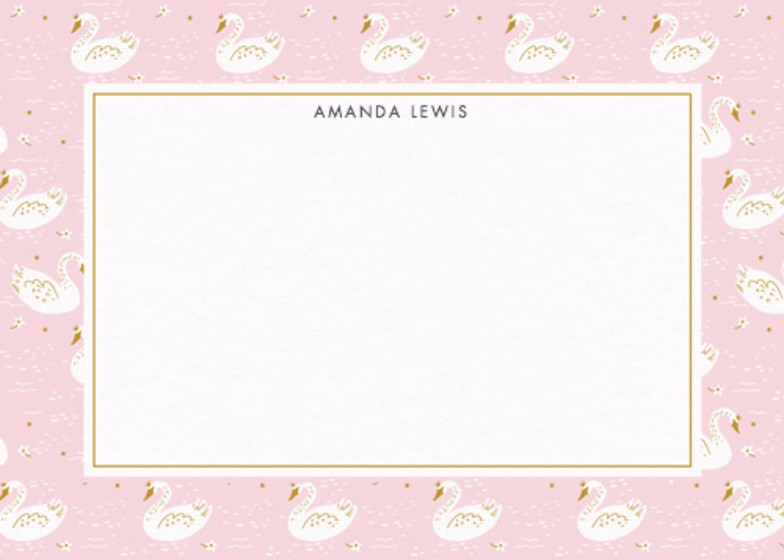 Swan Princess | Personalised Stationery Set