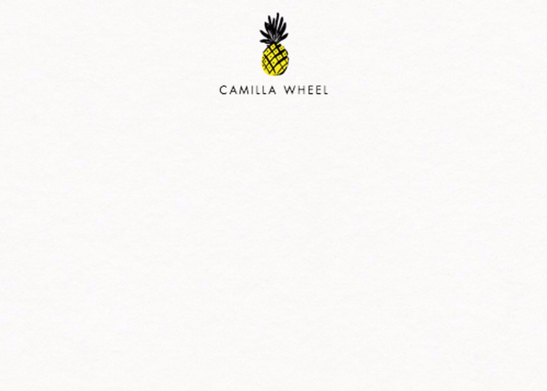 Tropical Pineapple | Personalised Stationery Set