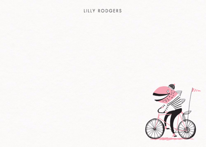Fish On A Bike | Personalised Stationery Set