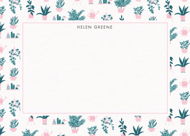 House Plants | Personalised Stationery Set