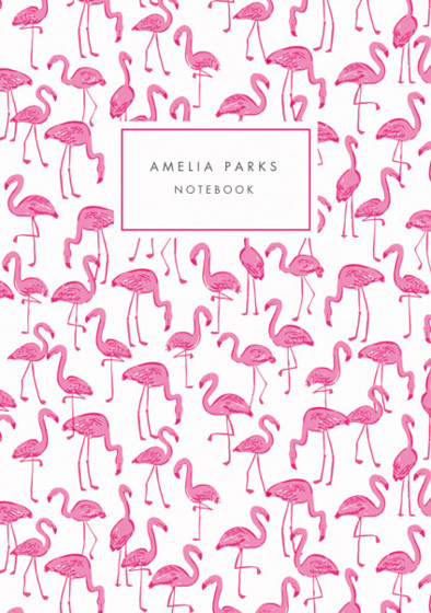 Flamingos | Personalised Lined Notebook