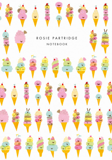 Ice Creams | Personalised Lined Notebook