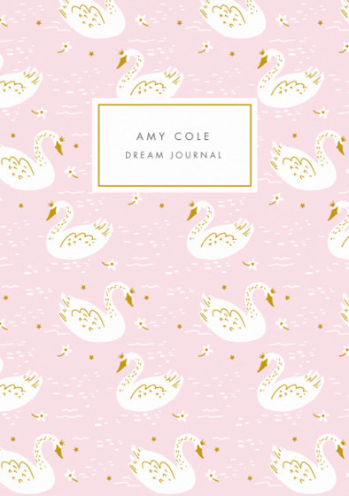 Swan Princess | Personalised Lined Notebook