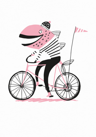 Fish On A Bike  | Personalised Lined Notebook
