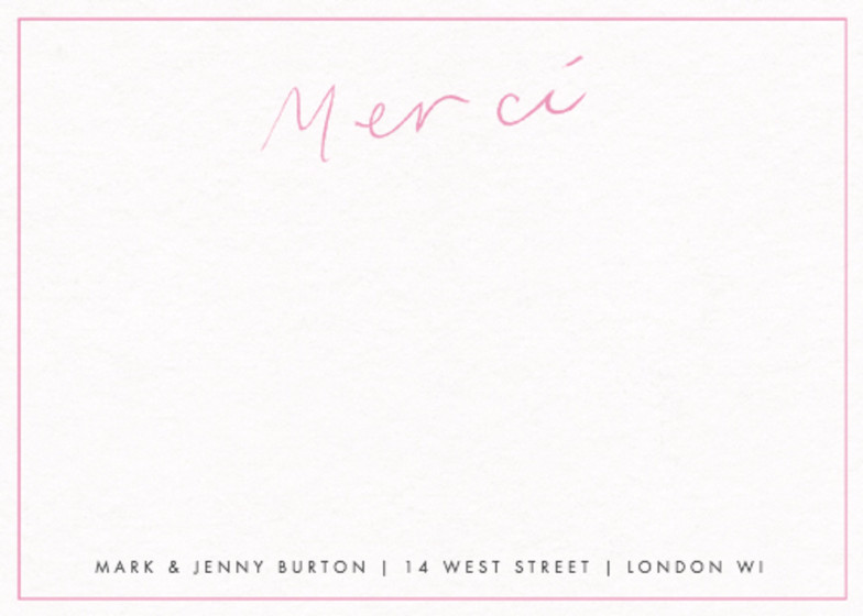 Merci Pink | Personalised Stationery Set