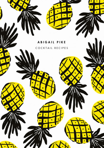 Tropical Pineapple | Personalised Lined Notebook