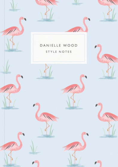 Flamingo Lake | Personalised Lined Notebook