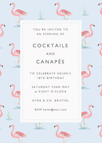 Flamingo Lake | Personalised Party Invitation