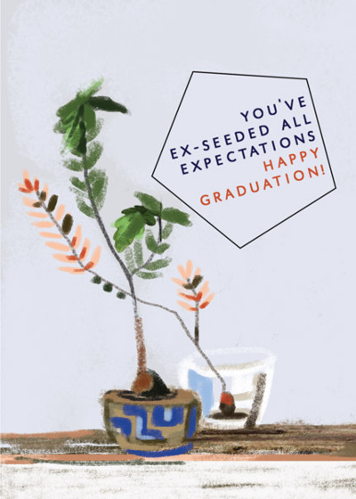Ex-Seeded Expectations    Personalised Congratulations Card